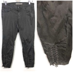 Vince Olive Green Lace Up Skinny Pants Size 27